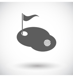 Golf single icon vector