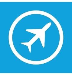 Plane sign icon vector