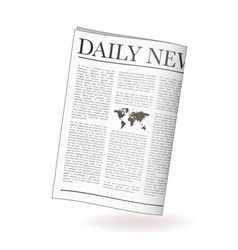 Newspaper daily vector