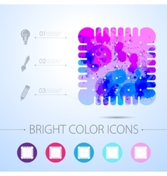 Biscuit icon with infographic elements vector