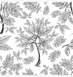 Seamless tree pattern 012 grunge vector