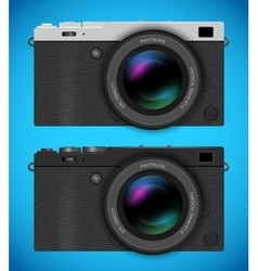 Mirrorless compact camera vector