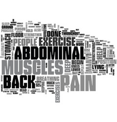 abdominal exercise text word cloud concept vector image