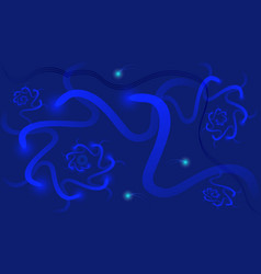 abstract dark blue background with luminous vector image vector image
