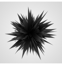 Abstract geometric background black explosion vector