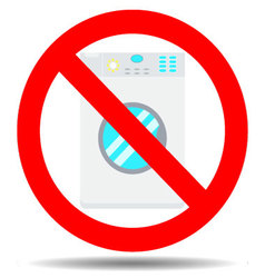 Ban wash machine vector