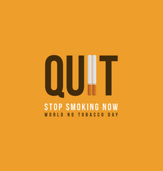 Banner stop smoking no tobacco day collection vector