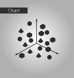 Black and white style icon chart with geometric vector