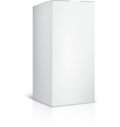 Blank paper or cardboard box template on white vector image vector image