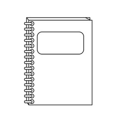 closed notebook icon image vector image
