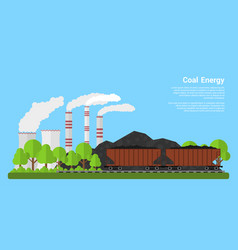 coal energy banner vector image