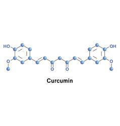 curcumin diferuloylmethane e100 vector image vector image