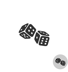Dices logo vector image vector image