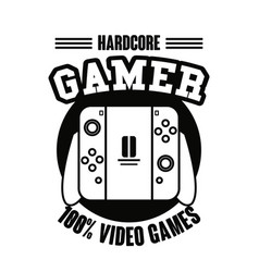 Gamer gamepad technology vector