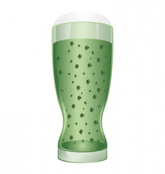 glass of Irish beer vector image