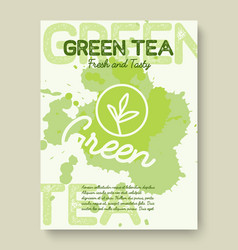 green tea poster or banner typography design vector image vector image