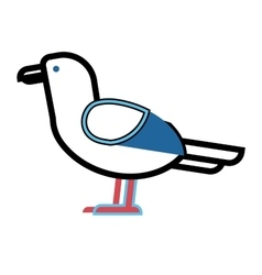 Gull bird animal vector