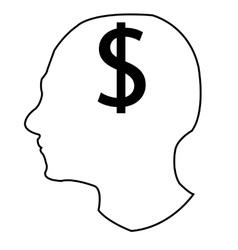 Head and money vector