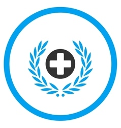 Health care embleme rounded icon vector