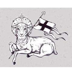 Lamb of god christian symbol vector