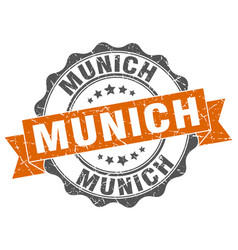 Munich round ribbon seal vector