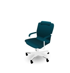 Office chair isolated on white background vector