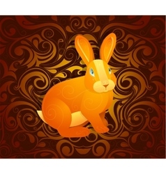 Rabbit as symbol for year 2023 vector image