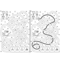 Recycling maze vector image vector image
