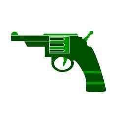 Revolver symbol icon on white vector image