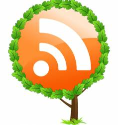 RSS tree icon vector image vector image