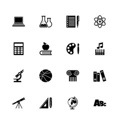 school subject - flat icons vector image