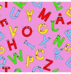 Seamless pattern with funny alphabet vector image vector image