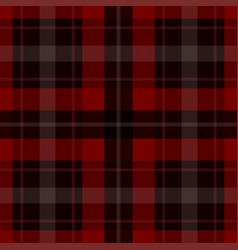 Seamless red black tartan - white stripes vector