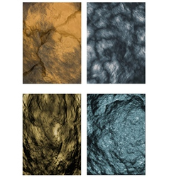 Set of stone textures vector
