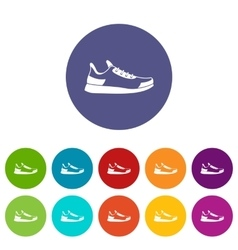 Sneaker set icons vector