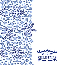 Snowflakes vertical white vector