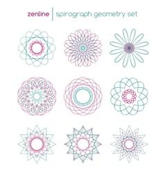 spirograph symbols vector image vector image