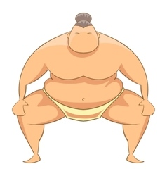 Sumo wrestler icon cartoon style vector