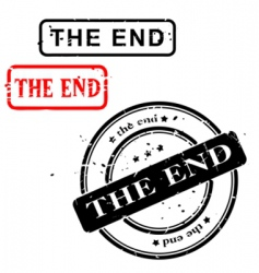 THE END sign vector image vector image