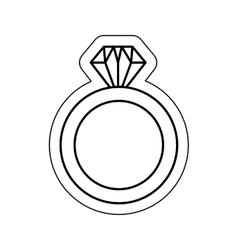 wedding ring isolated icon vector image