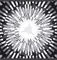 Black and white burst ray abstract background vector