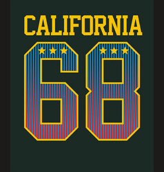 Typography varsity california vector