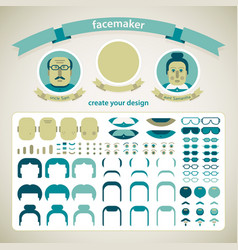 Facemaker pack set vector