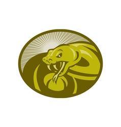 Angry snake viper baring its fangs vector image