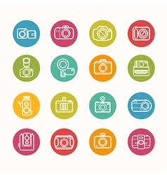 Camera icons set circle series vector