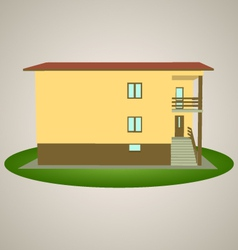 Front view house 2 vector