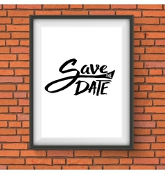 Black text design for save the date concept vector