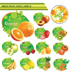 Juice labels mega pack vector