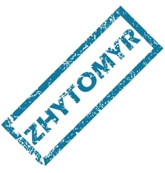 Zhytomyr rubber stamp vector