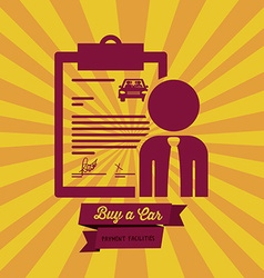 Buy a car design vector